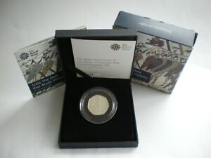 2016 Great Britain Battle of Hastings 50p Fifty Pence Silver Proof Coin Box Coa