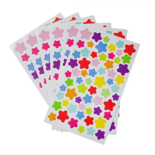 6Sheets Star Love Dot Stamping Diary Stickers Shape Scrapbook Notes DIY