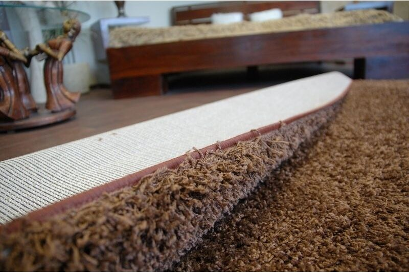 CHEAP SOFT RUGS SHAGGY 5cm braun HIGH QUALITY nice in in in touch CARPETS MANY Größe 5de5e2