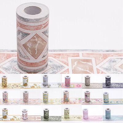 10m Wallpaper Wall Borders Self Adhesive Border Sticker Floral Striped Pattern