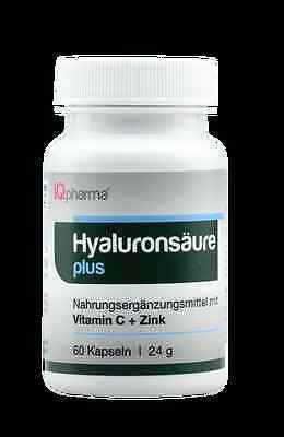 Hyaluronsäure, 60 Kapseln MM!200mg/d vegetarisch Haut Gelenke