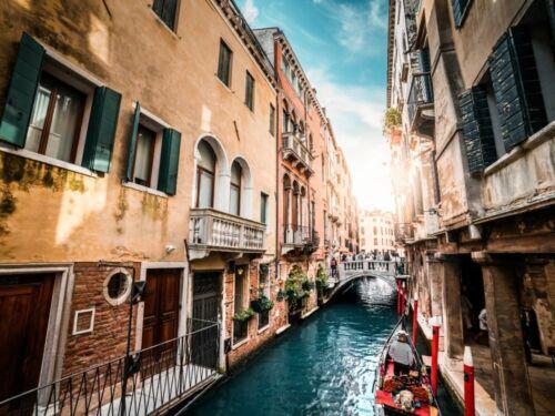 Venedig Kanal y00556 Wand Deko Leinwand Bilder