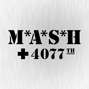 MASH-M-A-S-H-inspiriert-4070th-US-Army-70s-Schwarz-Vinyl-Decal-Sticker-Aufkleber