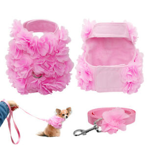 Pink-Vogue-Flower-Studded-Dog-Harness-and-Leash-set-Cute-for-Small-Dog-Puppy-Cat