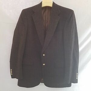 Austin Reed Dillards Usa Brown Check Cashmere Blend Sports Coat 40r Ebay
