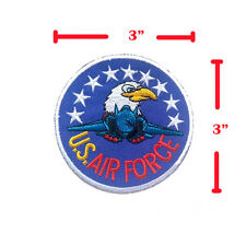 US AIR FORCE EAGLE STAR PLANE EMBROIDERED IRON ON PATCHES DIY HEAT SEW APPLIQUE
