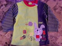 Baby Boys Orchestra Bebe Shirt Rabbit Green Boutique Shower Gift 6 Months