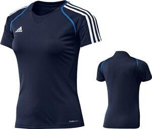 adidas-Damen-Sport-Shirt-blau-Trainingsshirt-Laufshirt-Gr-XS-S-34-36-48-T12