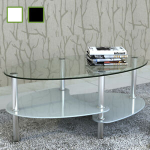vidaXL-Coffee-Table-Exclusive-3-Layer-Design-Living-Room-Stand-White-Black