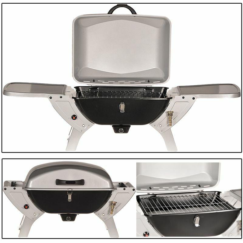 2 en 1 - 50 mbar parrilla Grill mesa BBQ parrilla camping gas parrilla barbacoa plegable