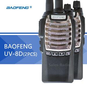 2X-Baofeng-UV-8D-5W-Walkie-Talkies-UHF-400-480MHz-FM-PMR446-Ham-Two-way-Radios