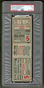 1925-World-Series-Game-5-Full-Ticket-Senators-Pirates-PSA-Graded-Encapsulated