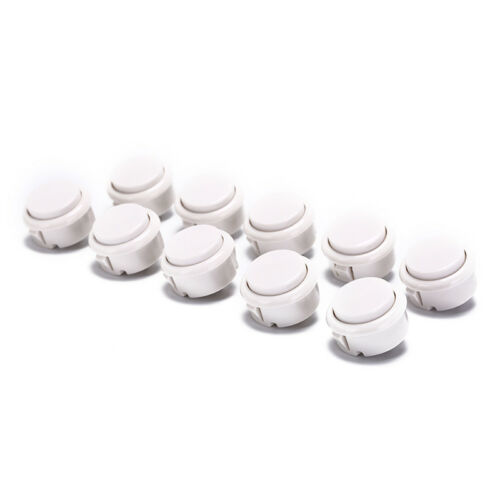 10pcs 30mm push buttons replace for arcade button games parts of 7 colors/_TI