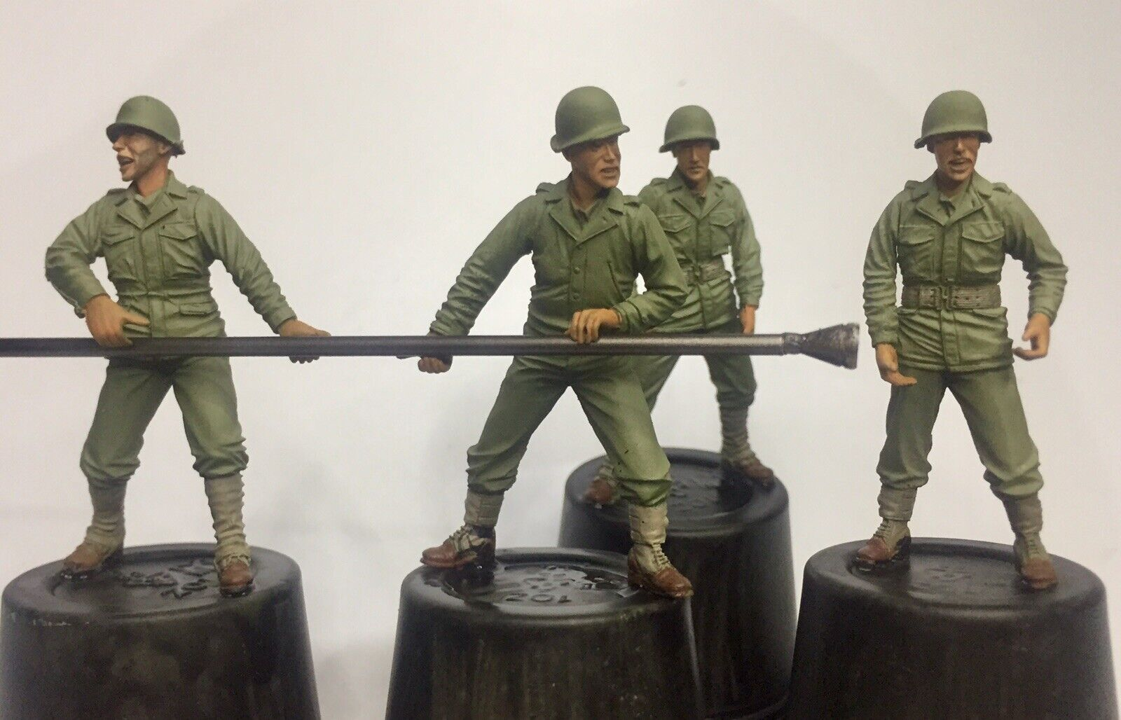 Hobby Fan US Artillery Crew 1 35 Resin Figuras Professionally Painted