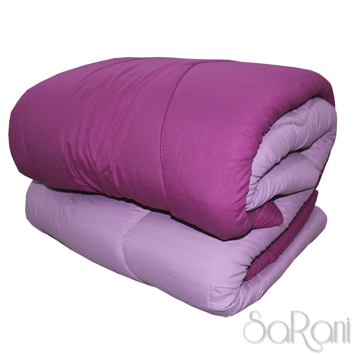 Courtepointe Hivernal Duvet Moderne Double Face color Unie purple Glicine SARANI