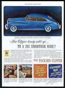 1942 Packard Clipper Special Club Sedan blue car vintage print ad