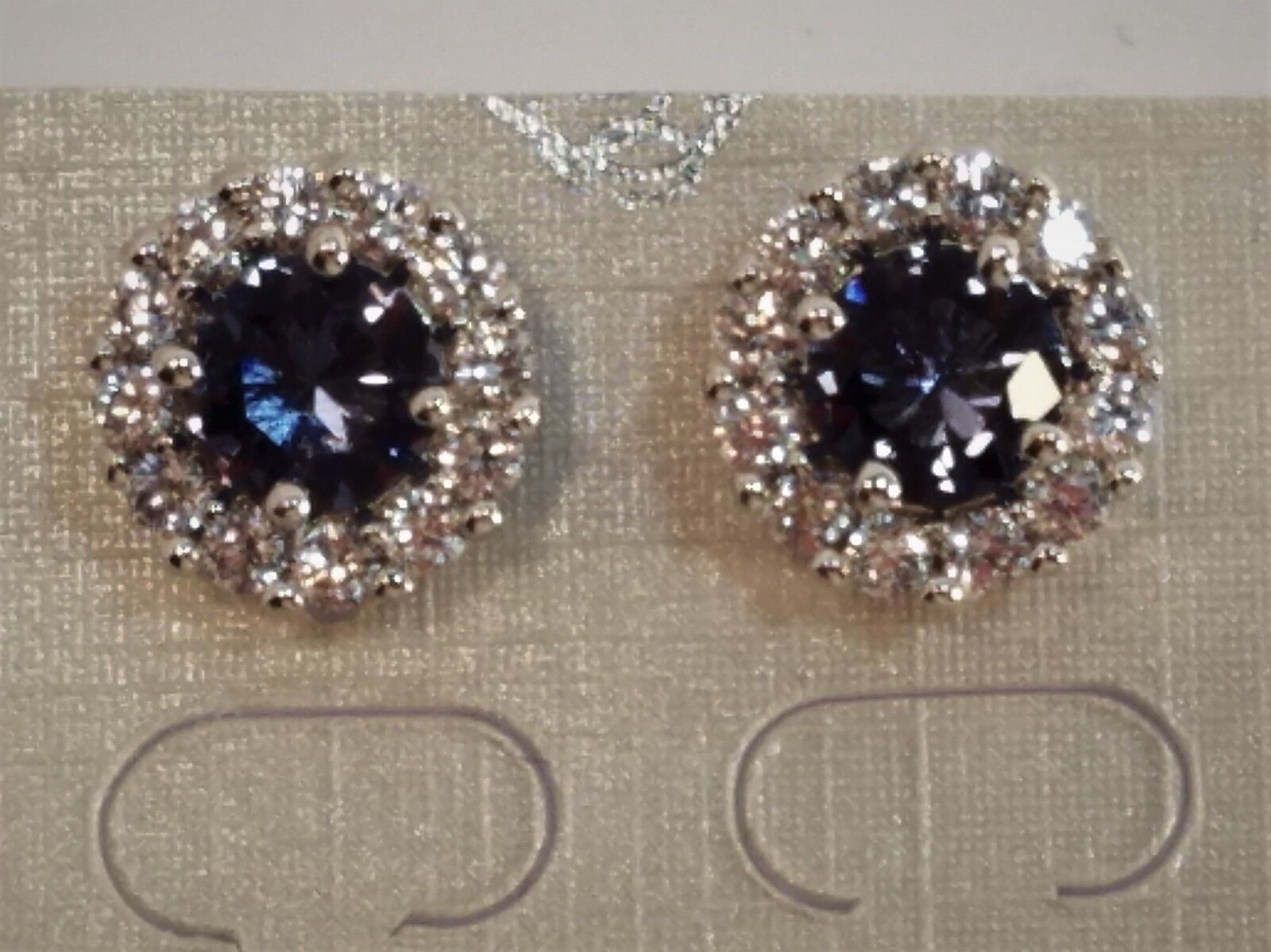 Womens White gold Rhodium Plated Cubic Zirconia Bridal Style Designer Earrings