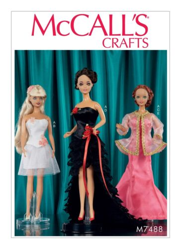 MAKE 11.5 INCH DOLL CLOTHES SEWING PATTERN FANCY DRESSES~CORSET FITS BARBIE!
