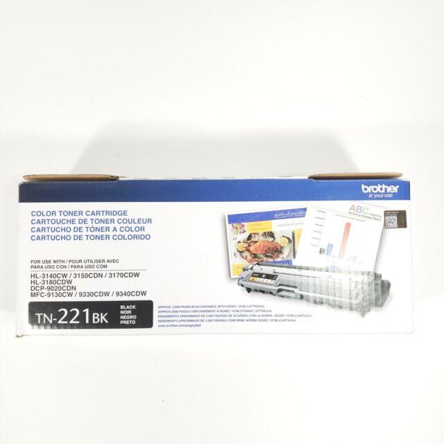NEW Brother Genuine TN221BK Black Toner Cartridge HL3140/DCP-9020/MFC-9130cdw