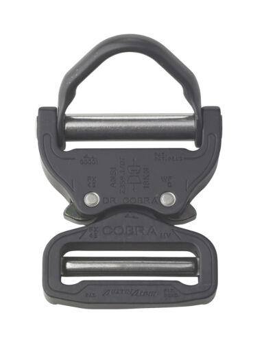 "Clips FX45MVO-B AustriAlpin 45mm//1.75/"" Negro Mate cobra Hebilla Negro Anillo en D"