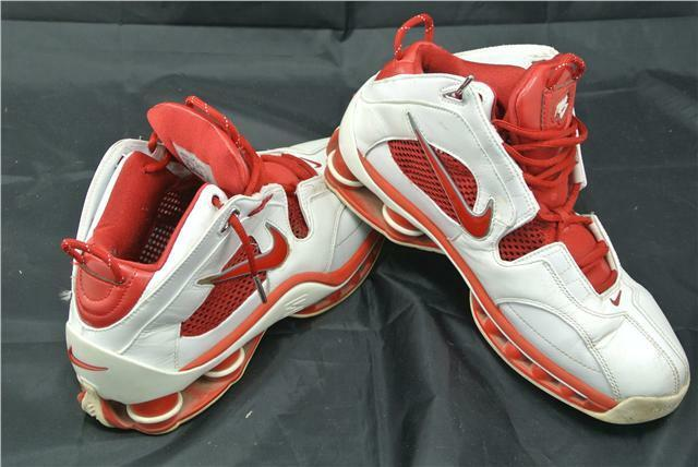 NIKE FLIGHT 9 UK Weiß rot TRAINERS schuhe RARE CLASSIC LIMITED EDITION
