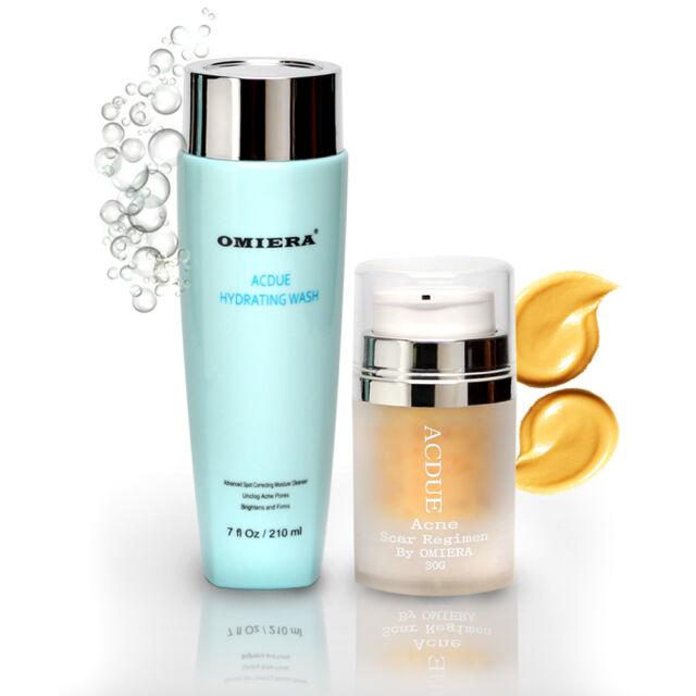 Acdue Acne Cream Treatment + Facial Wash Cleanser Set