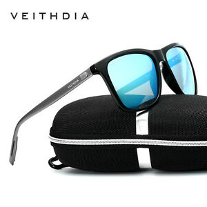 998c7e3f25 Image is loading Veithdia-Mens-Fashion-Retro-Polarized-UV400-Sunglasses- Sports-
