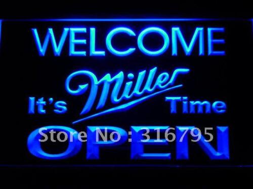 Welcome It/'s Miller Time bier 3D neon light dekor Mauer Neonzeichen Leuchtschild