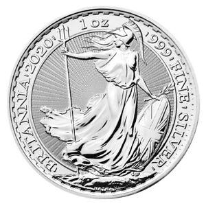 1 oz Silber Britannia - Großbritannien - 2020 - Stempelglanz - RB