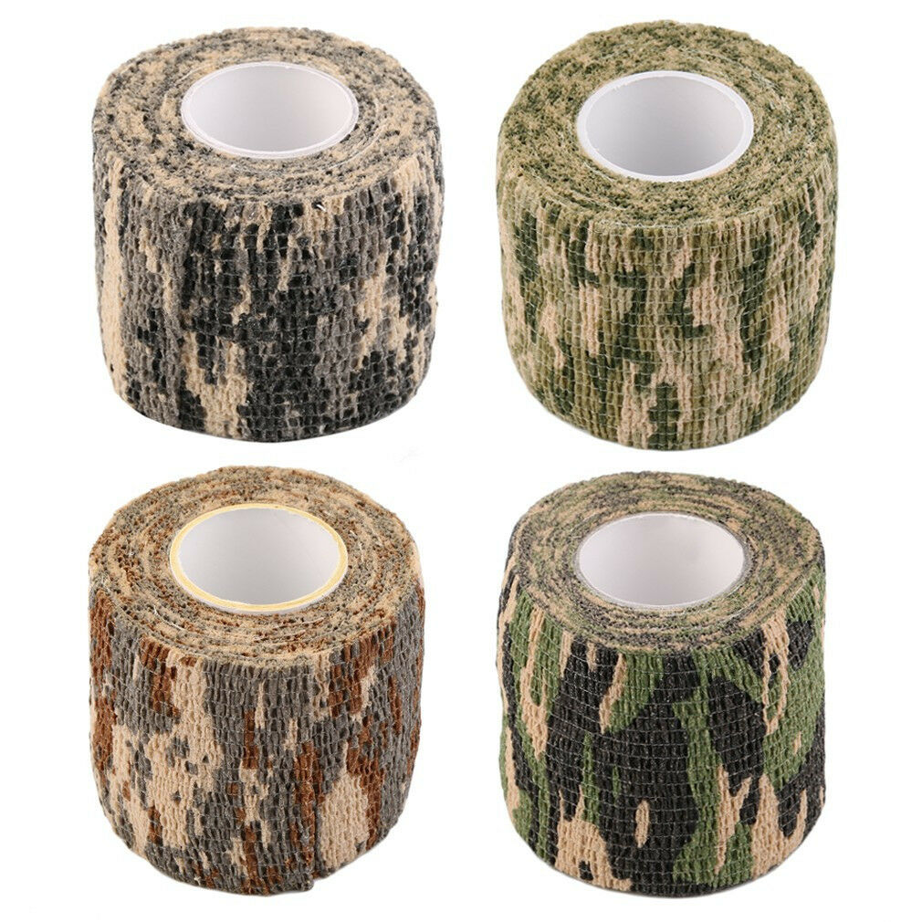 New Camo Hunting Camping Hiking Camouflage Stealth Tape Wrap Waterproof.