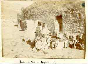 Algerie-Arabes-du-Stett-a-Laghouat-Vintage-citrate-print-Tirage-c