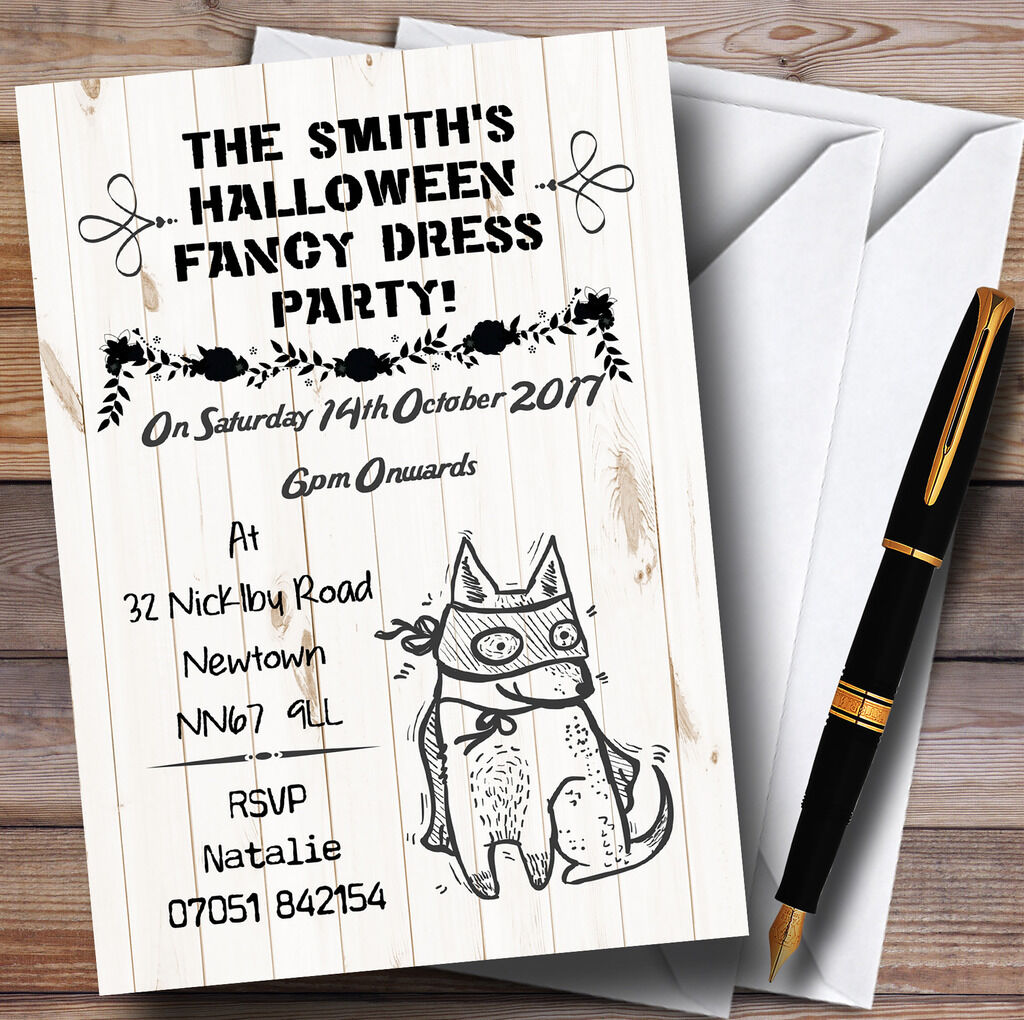 Scary Scary Scary Fancy Dress Personalised Halloween Party Invitations 3a078d