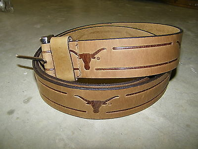 Univervisity of Texas Longhorns UT Leather Belt NEW Size 46 108 Enmon Leather