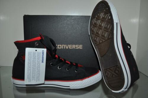 the best attitude 98f2a 96de7 ... Converse Chuck Taylor All Star Coated Canvas Boys Sneakers 645178F  Black Red NIB