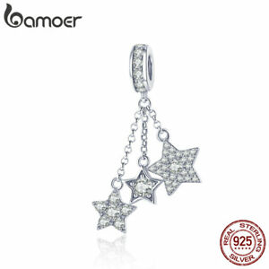 Bamoer-Shine-S925-Sterling-Silver-Stars-Dangle-charm-With-Cz-For-Women-Bracelet