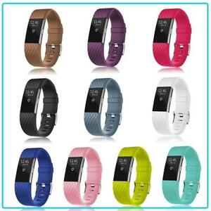Replacement-Band-for-Fitbit-Charge-2-Colour-Secure-Strap-UK-Wristband-Metal