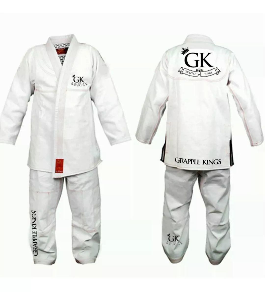 Grapple KINGS BJJ GI White Tatami Koral MMA fight judo juijitsu FREE Delivery A1