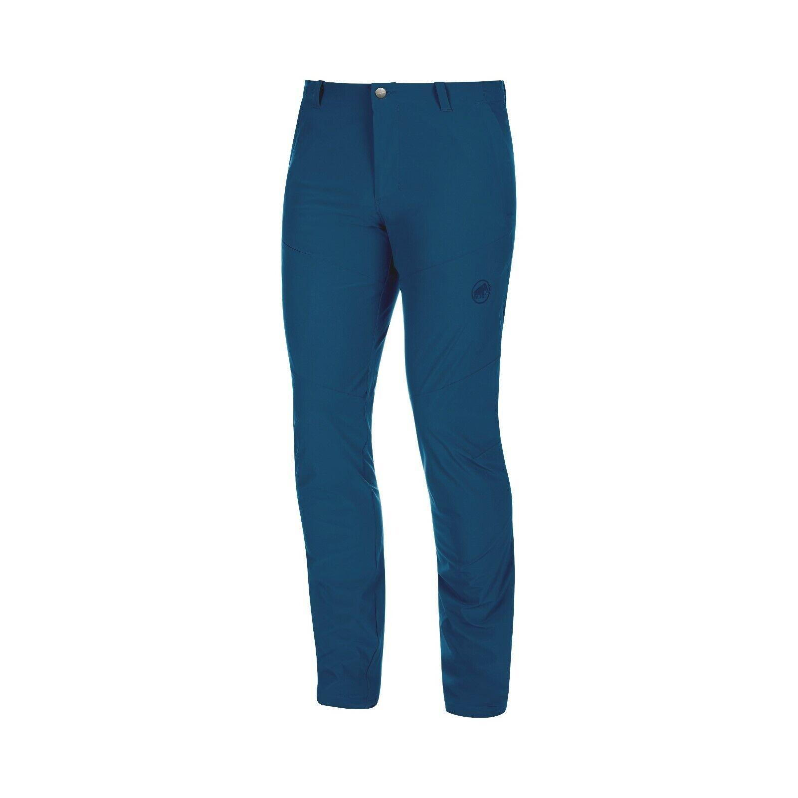 Mammut Runbold Pants Men Lightweight Elastic Outdoor Trousers for Men Poseidon