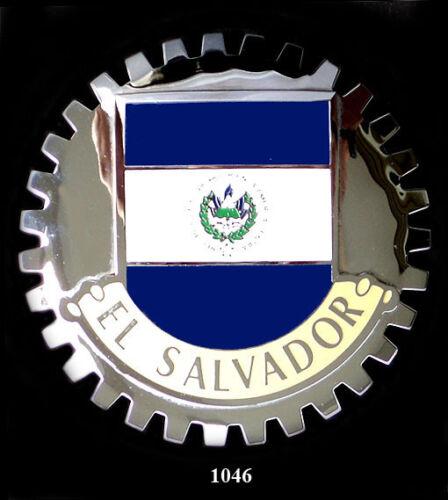 CAR GRILLE EMBLEM BADGES EL SALVADOR FLAG