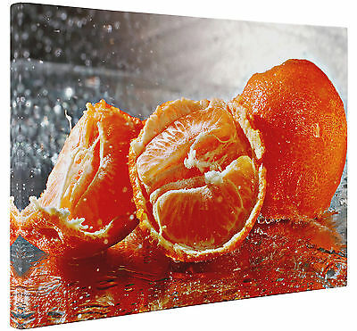 Oranges Fruit Splash Kitchen Canvas Print Wall Art Picture Large or Small