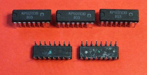 KR512PS10 = MK5009  IC Microchip USSR  Lot of 6 pcs