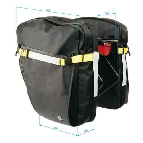 Author bicicleta portaequipajes bolsillos laterales a-n Tramp 42 litros de volumen negro