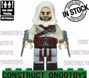 Details About Ezio Auditore Da Firenze Brotherhood Lego Custom Pad Uv Printed Minifigure