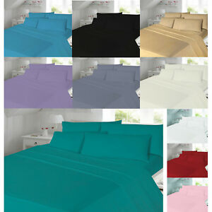 Flannelette-Sheets-Set-Fitted-Flat-with-Pillow-case-Single-Double-King-Size-Bed