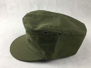 Details about WWII WW2 US ARMY MARINE USMC PLAIN GREEN HBT ARMY FIELD CAP  SOLDIER HAT SIZE L 8ff340ee8fc8