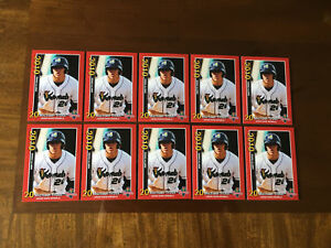 10-LOT-OF-Mike-Trout-2010-CEDAR-RAPIDS-KERNELS-RED-2-MINOR-LEAGUE-ROOKIE