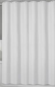 "New Titan 70/"" x 72/"" Waterproof Striped Fabric Shower Curtain Liner White"