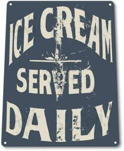 Ice-Cream-Served-Daily-Kitchen-Cottage-Farm-Rustic-Metal-Ice-Cream-Metal-Sign