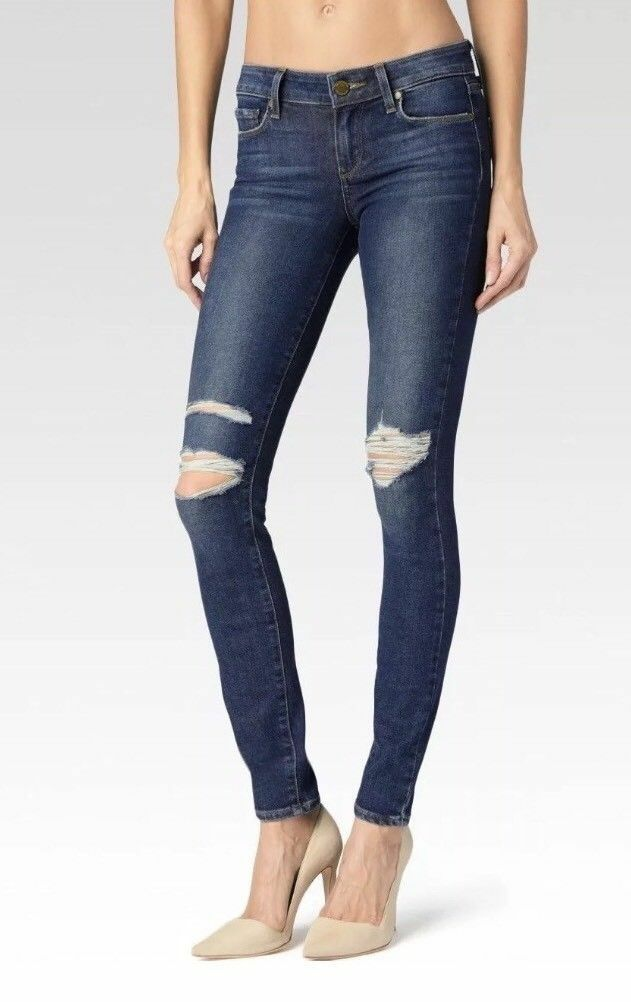 229 Paige Verdugo Mid Rise Ultra Skinny Daria Destructed Jeans Legacy Sz 29 NWT