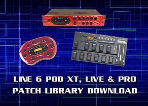 Details about LINE 6 POD XT, LIVE & PRO PRE-PROGRAMMED PATCHES DOWNLOAD  7500+ - GUITAR EFFECTS
